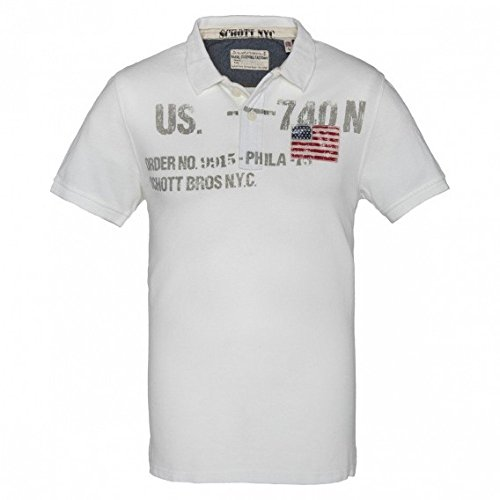 Schott NYC -  Polo  - Uomo ecru Medium
