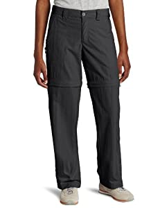 White Sierra Women's Sierra Point 29-Inch Inseam Convertible Pant, Large, Caviar