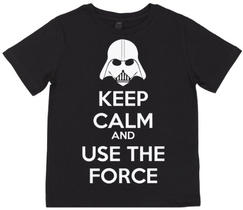 Phunky Buddha - Keep Calm And Use The Force Unisex Children Top 11-12 Yrs - Black front-744517
