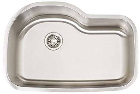 Artisan AR 3120D10-S Premium Collection 16-Gauge Undermount Single Basin Stainless Steel Kitchen Sink