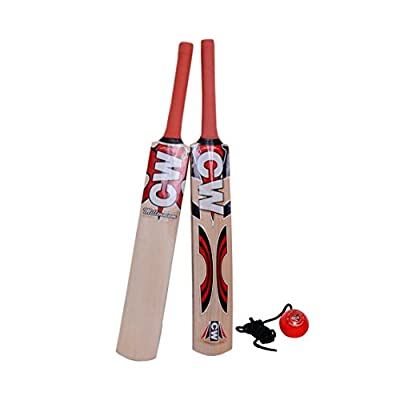 CW Combo of Cricket Bat Kashmir Willow Millennium with Training/ Hanging Ball