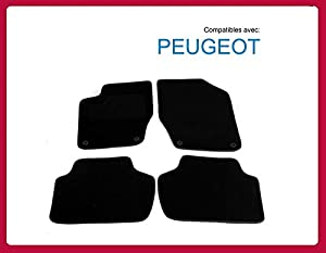 l 39 ensemble de tapis de sol pour peugeot 308 tapis voiture d036 cmo. Black Bedroom Furniture Sets. Home Design Ideas