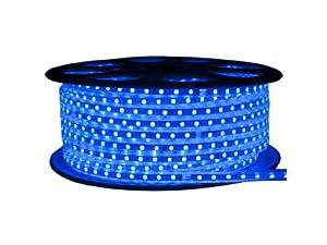 CBconcept 120VSMD5050-50M-B 120 -volt High Power SMD5050 Flexible Flat LED Strip Rope Light, 165-Feet Spool, Blue
