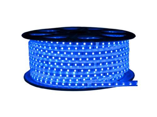 Cbconcept 120Vsmd3528-20M-B 120 -Volt Smd3528 Flexible Flat Led Strip Rope Light, 65-Feet Spool, Blue