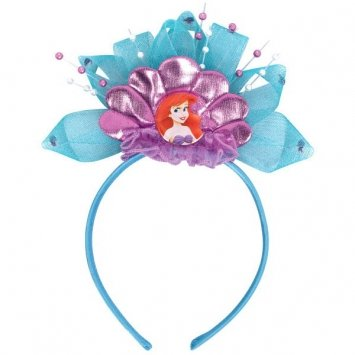 """Amscan Disney's Ariel Deluxe Blue Little Mermaid Headband, Blue/Purple, 8 1/2"""" x 6 1/2"""""""