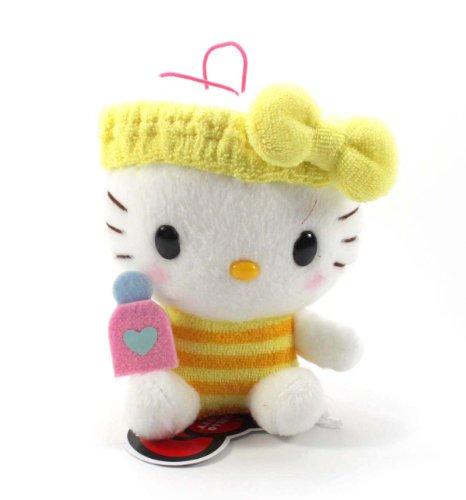 """Eikoh Hello Kitty Fresh Bath Time Plush Strap - 5"""" Yellow Bottle"""