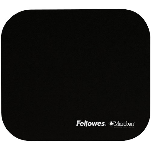 Fellowes Mouse Pad with Microban, Black (5933901) (Microban Mouse Pad compare prices)