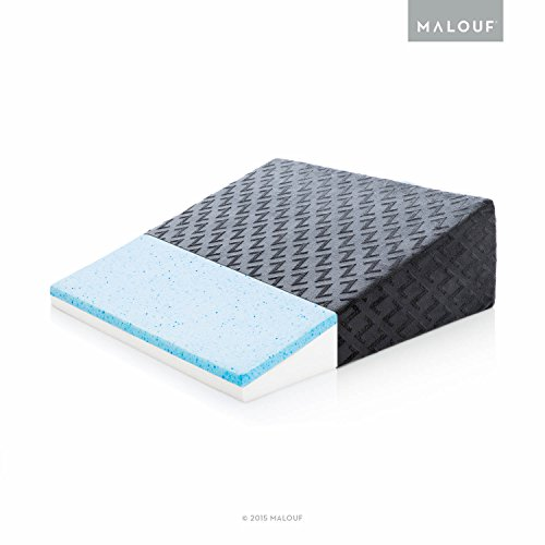 z gel infused memory foam wedge pillow therapeutic bed