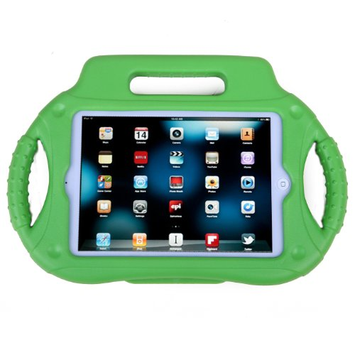 HDE iPad Mini Case Kids Shock Proof Steering Wheel Cover with Stand for Apple iPad Mini / Mini 2 / Mini 3 / Retina (Green) (Steering Wheel Play 2 compare prices)