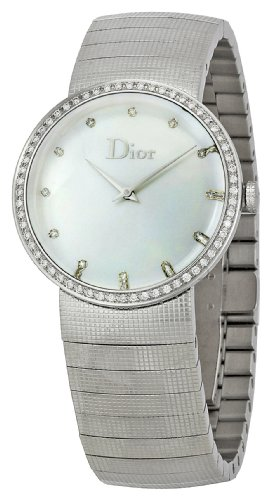 Christian Dior Watches:Christian Dior Women's CD042111M002 Baby D Fixed Bezel Set with 52 Diamonds Watch Images