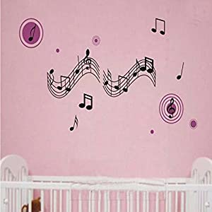 Wall Decor - Musical Notes Style Art Wall Stickers Paper DIY Kid Children Removable Wallpaper Decals by Mark8shop