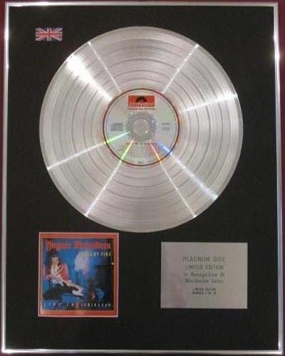 YNGWIE MALMSTEEN-CD Platinum Disc-processo di fuoco