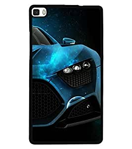 Fuson Premium Need For Speed Metal Printed with Hard Plastic Back Case Cover for Huawei P8