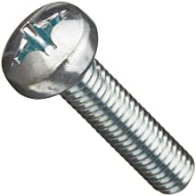 Metric DIN 7985 Zinc Plated Steel Pan Head Machine Screw, Phillips Drive