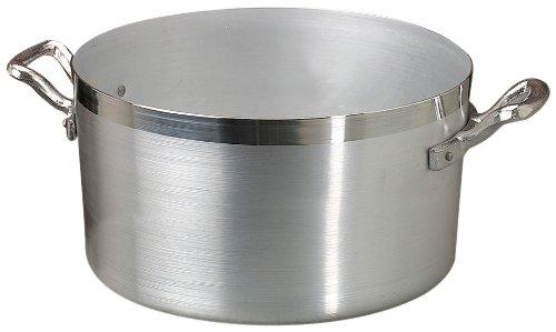 Pentole Agnelli Casseruola Alta in Alluminio BLTF, con 2 Manici in Acciaio Inossidabile, Argento, 10 Litri