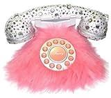 Southern Telecom Pink Fur and Rhinestone Phone