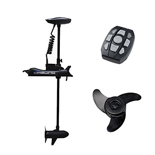 Haswing Cayman 12v 55lbs Bow Mount Electric Trolling Motor Black 48