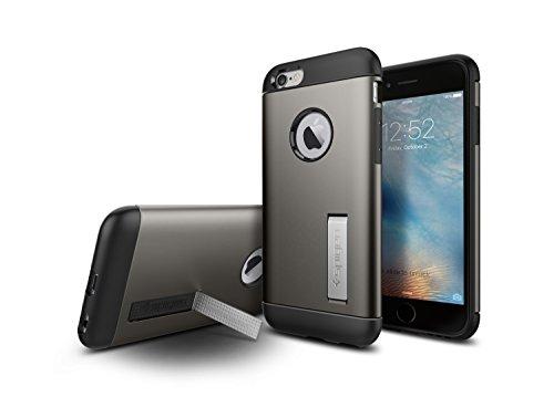 iPhone-6S-Cover-Spigen-Cover-iPhone-6S-Slim-Armor-Angoli-Tecnologia-a-cuscino-daria-Gunmetal-Slim-Fit-Dual-Layer-Kick-Stand-Protezione-Custodia-Apple-iPhone-6-iPhone-6S-SGP11605