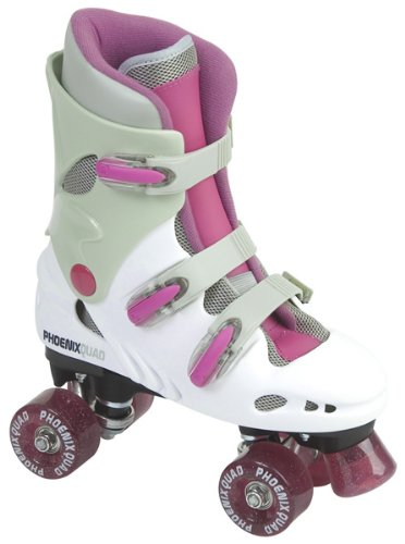 Sfr Pheonix Quad Skates - Pink/white - Uk3