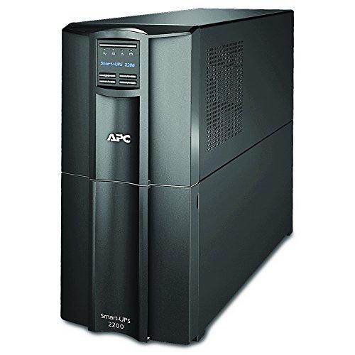 APC Smart UPS SMT2200I, USV 2200VA Tower, bis zu 24 min. Überbrückungszeit bei Stromausfall, LCD Panel, ECO Mode - Stromsparfunktion