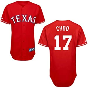 Shin-Soo Choo Texas Rangers Alternate Red Replica Jersey by Majestic by Majestic