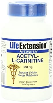 Life Extension Acetyl L-carnitine 500mg Vegetarian Capsules, 100-Count by Life Extension