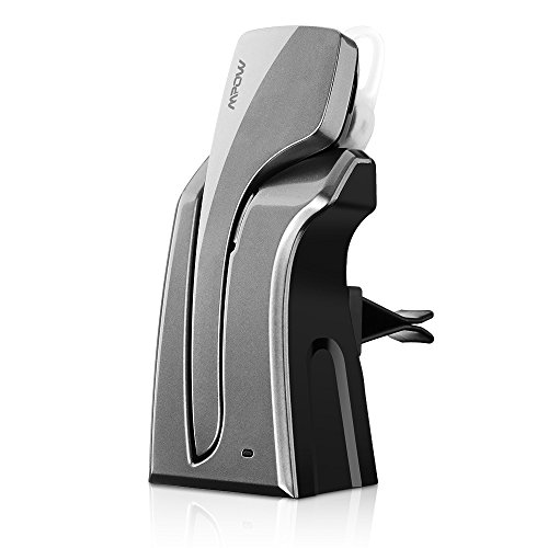 Audífono inalámbrico Mpow Knight Pro Bluetooth 4.0 con estación de carga para carro, soporta comando de voz tecnología Multi-point
