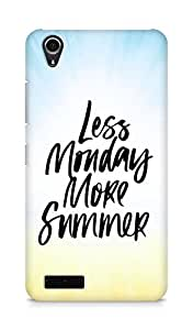 AMEZ less monday more summer Back Cover For Lenovo A3900
