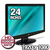 Acer H243H bmid 24-Inch Widescreen LCD Display (Black)