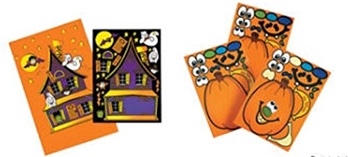 Make a Pumpkin Sticker and Make a Haunted House Sticker Scene Set (1 Dozen of Each)