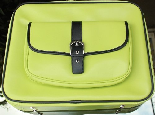 "Kroo Fashion Business Waterproof Pvc Leather Briefcase Laptop Case Messenge Shoulder Bag (Eco-Friendly Green) Checkpoint-Friendly For Lenovo-Ideapad 14"" Touch-Screen Laptop S400 - 59385916"