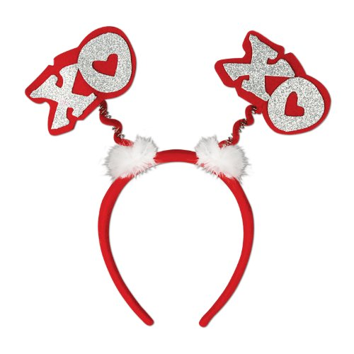 Beistle 70767 Glittered XOXO Boppers, 1 Per Package