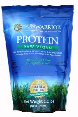 Sun Warrior Protein Powder (New Eco Pack) 2.2lb (1KG)- Natural Flavor