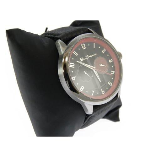 Ben Sherman ベンシャーマン クロノグラフ レッド ブラック 時計 レザーベルト ウォッチ r813