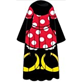 Minnie Mouse Classic Polka Dots Red White Gold Disney Comfy Throw Cozy Adult Size Blanket with Sleeves