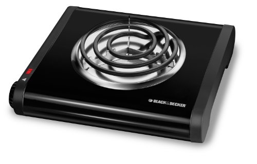 Black & Decker Sb1001B Single-Burner Portable Buffet Range