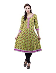 Rash Collection Women's Cotton Round Neck Kurti - B00X3TMM74