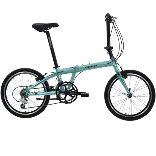 Hasa Folding Foldable Bike Shimano 18 Speed 20 Inch Green