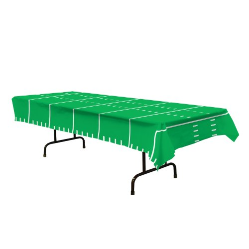 Game Day Football Tablecover Party Accessory (1 count)