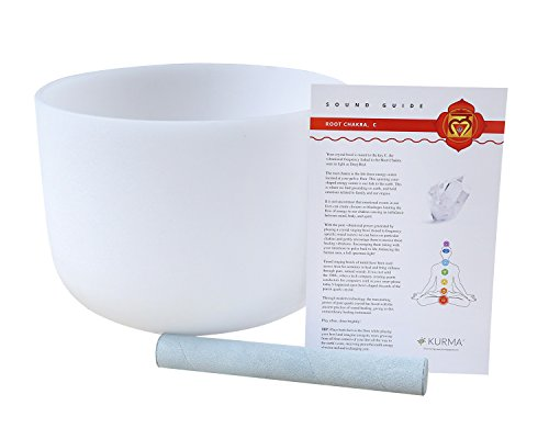 432 hz Root Chakra Crystal Singing Bowl 12 inch C Note, Suede Mallet Included, Highest Quality Sound and Material (Singing Bowl Set Crystal compare prices)