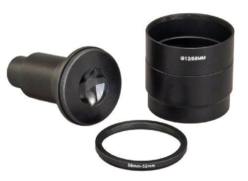 Omax Microscope Adapter For Canon G12 With 4X Lens