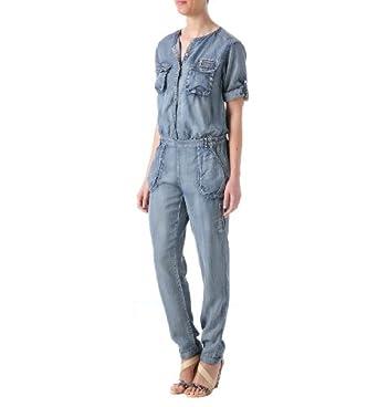 promod combinaison pantalon femme jean clair 34 v tements et accessoires. Black Bedroom Furniture Sets. Home Design Ideas