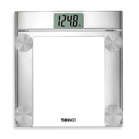 Conair Thinner Digital Precision Chrome and Glass Bathroom Scale, TH360 (Taylor Model 7506 compare prices)