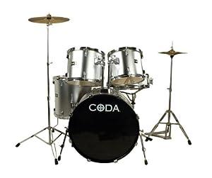 Amazon.com: CODA DS-330-BK 5-Piece Drum Set, Black: Musical