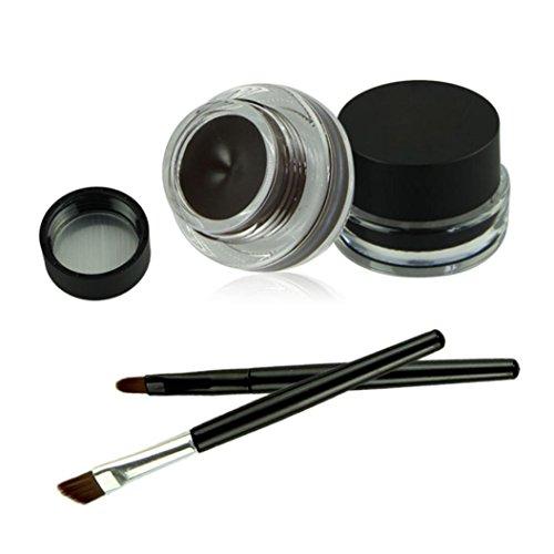 Internet Professionnel 2 en 1 Brun + Noir Gel Eyeliner