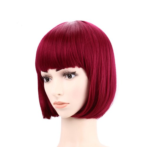Short Burgundy Red Hairstyle Wig Everything Else