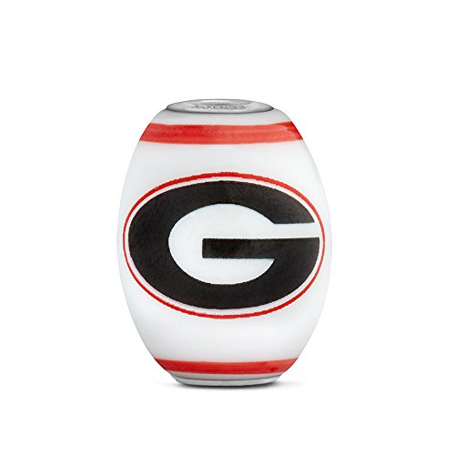 Georgia Bulldogs Large Glass Bead Fits Most European Style Bracelets