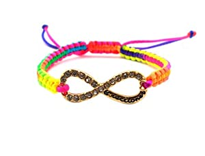 Very Rare One Direction Rainbow String Bracelet W Infinity Very Directioner Charm Xb285g by NYfashion101inc
