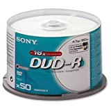 50 DVD-R vergini Sony stampabili full printable 700MB 80min