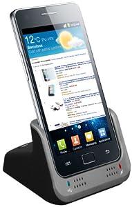 mumbi USB Dock Samsung Galaxy S2 i9100 / Galaxy S2 Plus i9105P Dockingstation / Tischladestation + 2x USB Dock Datenkabel + Schnell Ladegerät Netzteil